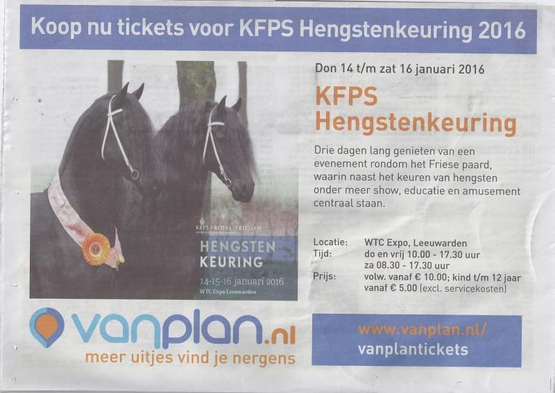KFPS Hengstenkeuring in Leeuwarden